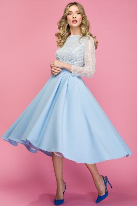 Rochie-ocazie-bleu-midi-dantela-crinolina-inchiriere-styleup